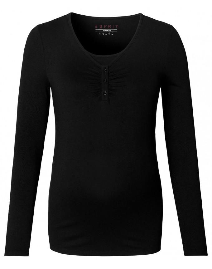 Esprit maternity Longsleeve Nursing Shirt mit modischem Wickeleffekt
