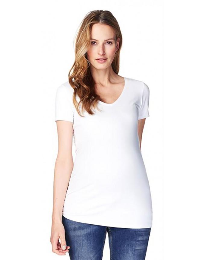 Umstandsmode noppies Basic-Shirt mit femininen Ausschnitt