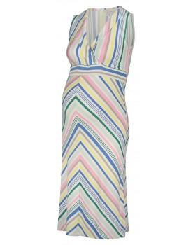 Esprit Umstandskleid Kleid mit V-Ausschnitt aus Viskose 20840412