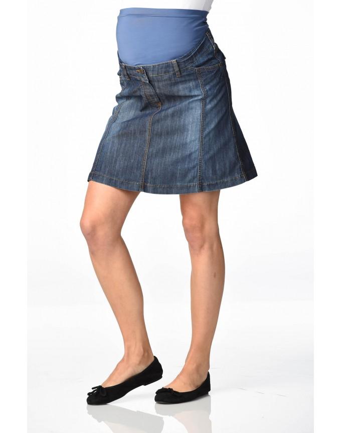 Christoff Designer Jeans-Rock -- Mailand -- leicht ausgestellt Jeansrock