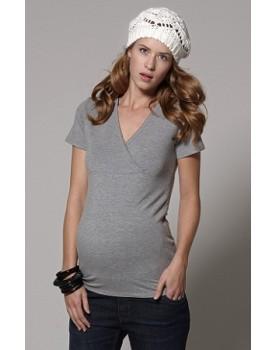 Esprit maternity Nursing T-Shirt mit modischem Wickeleffekt M84704