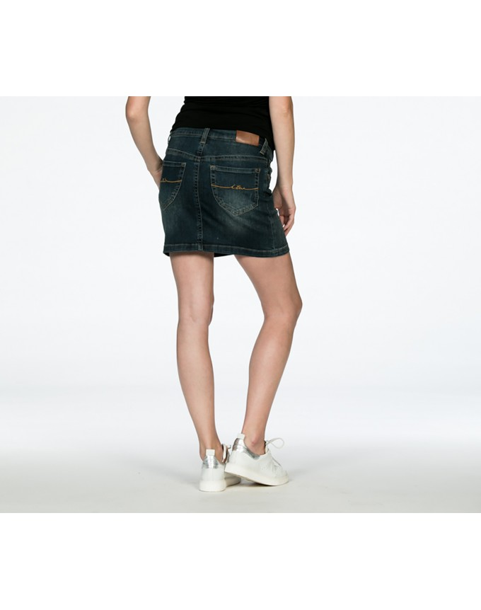 Love2Wait Jeansrock Skirt Denim-Dark Wash