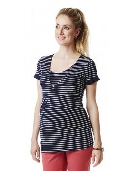 Eng anliegendes T-Shirt mit Streifenmuster von Esprit