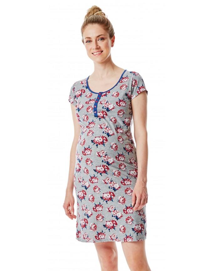Still-Nachtkleid bequemes Nachthemd nächtliche Stillen erleichtert
