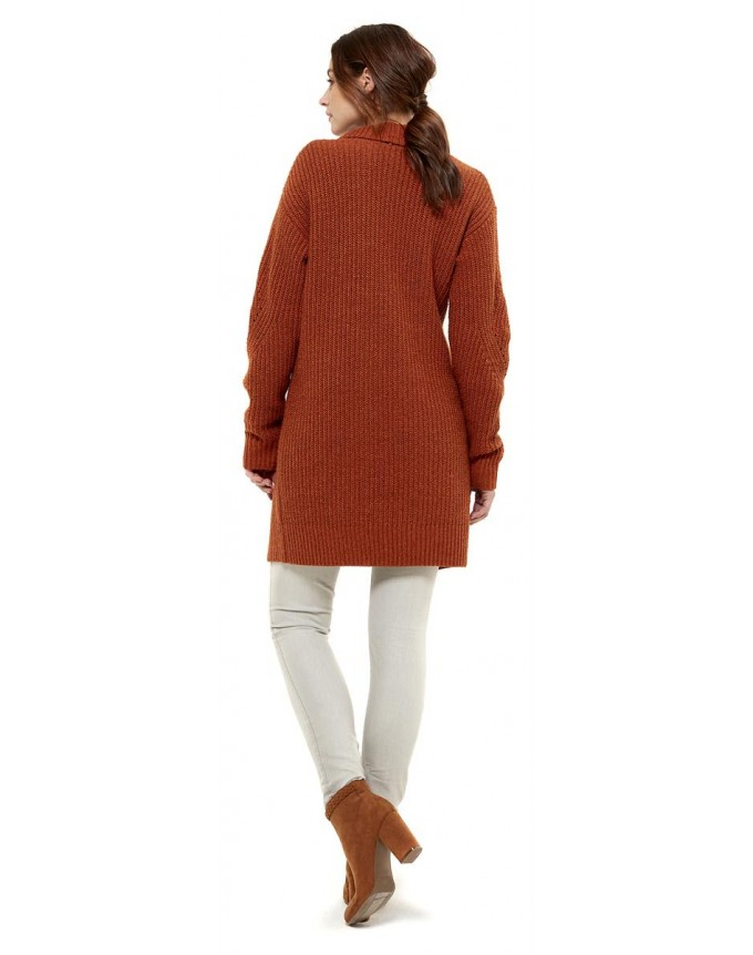 Queen Mum Long Comf Cardigan Strickjacke