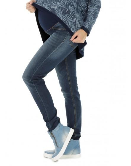 Nitis Schwangerschaftshose ❤️ Jeans Umstandshose Damen Hose Straight ❤️ (32L & 34L) 6000-89