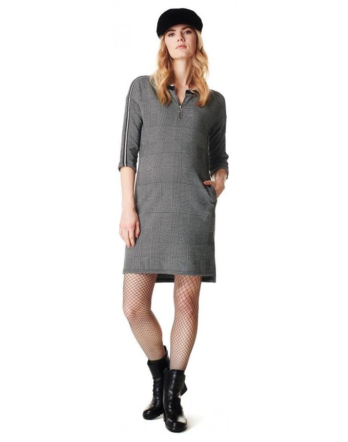 Kleid Check Umstandskleid Supermom Damen Kleid