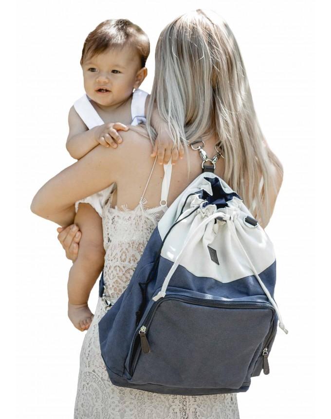 Baby Wickeltasche Wickelrucksack Freya Buggy Tasche Stroller Organizer (one, blue)