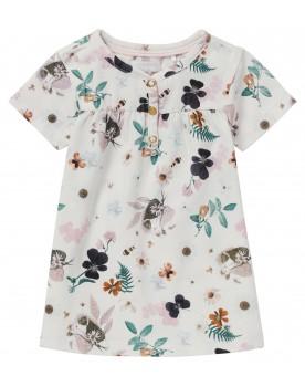 Kleid Malartic - Flatternde Schmetterlinge, fleißige Bienen