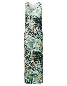 Still-Kleid Elizabeth - Dress up in lovely leaves, in diesem schönen Maxikleid mit Blätterprint.