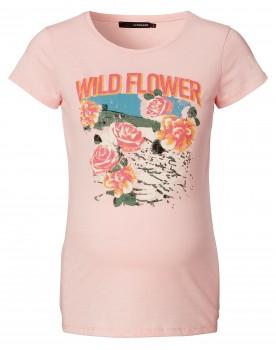 T-shirt Wild Flower - Cooles, lässiges T-Shirt mit Vintage-Blumenprint.