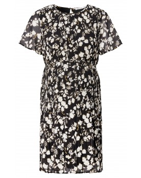 Kleid Salerno - atemberaubend Aussehen in diesem geblümten Plisseekleid