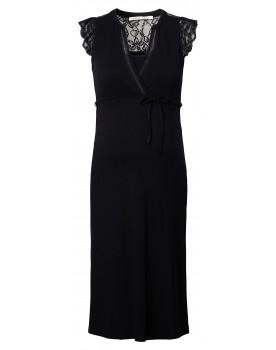 Still-Kleid Serre - Die Spitzendetails und der durchbrochene Wickelausschnittverleihen diesem Kleid einen festlichen Look.