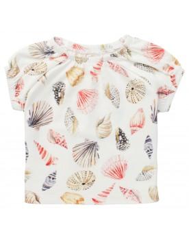 T-shirt Madera - Sommerliches Noppies Mädchenshirt voller exotischer Muscheln