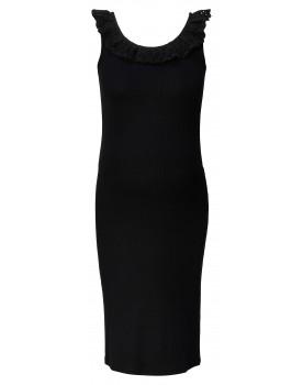 Kleid Broderie - lässiges Kleid mit Spitzenausschnitt