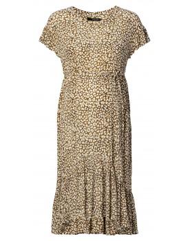 Kleid Leopard - schwingendes Kleid