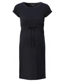 Kleid Organic - Rundhalsausschnitt und kurze, hochgekrempelte Ärmel