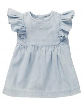 Kleid Magog - Lässiges Jeanskleid von Noppies mit schönen Rüschenärmeln.