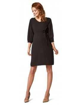 Queen Mum Kleid Woven schwarz 91146