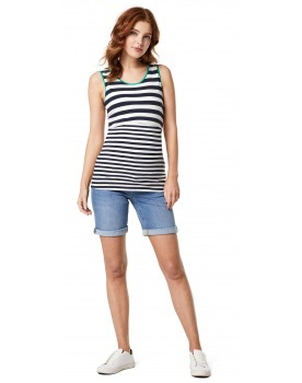 Queen Mum Damen Capri Shorts Bermuda Jeans kurze Hose Umstandsshorts 91235
