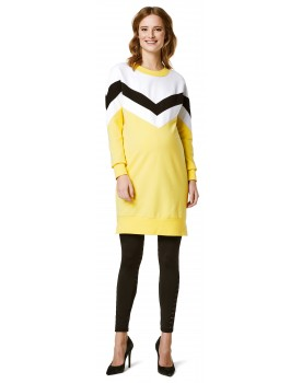 Damen Kleid Umstandskleid Kleid Colourblock