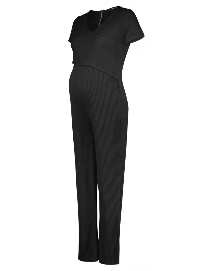 Jumpsuit Black Rib