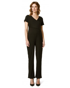 Jumpsuit Black Rib Stil-Statement