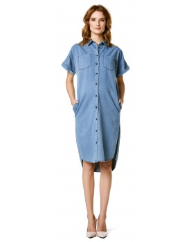 Umstandskleid Kleid Denim Hemdkleid