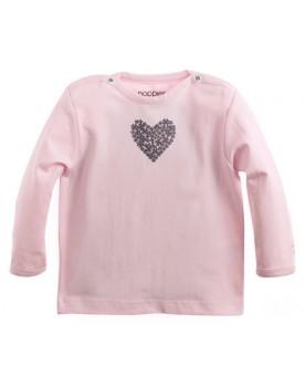 Noppies Babyshirt Basic-Shirt mit praktischen Druckknöpfen an der Schulter