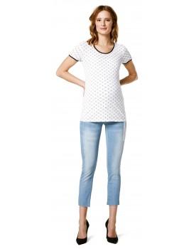 Supermom Top Logo Stripe T-Shirt S0944