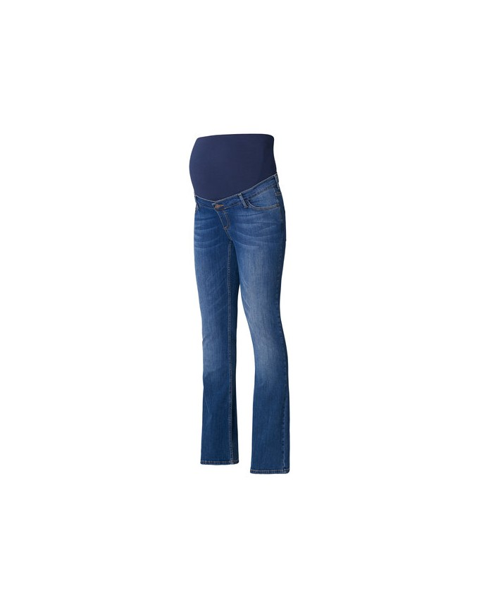 Flared-Leg Umstandsjeans im 5-Pocket-Stil. Stone-Washed-Jeans U8C010