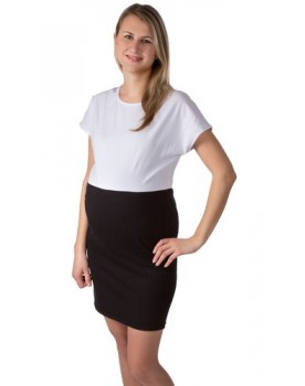 Etuikleid Black & White Two / Dress Umstandskleid