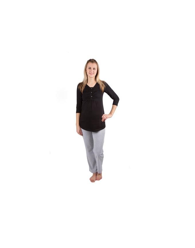 Schlafanzug Rachel / 2 in 1 Umstandsschlafanzug Sleep Shirt + Hose Pyjama Nachtwäsche Still- Pyjama