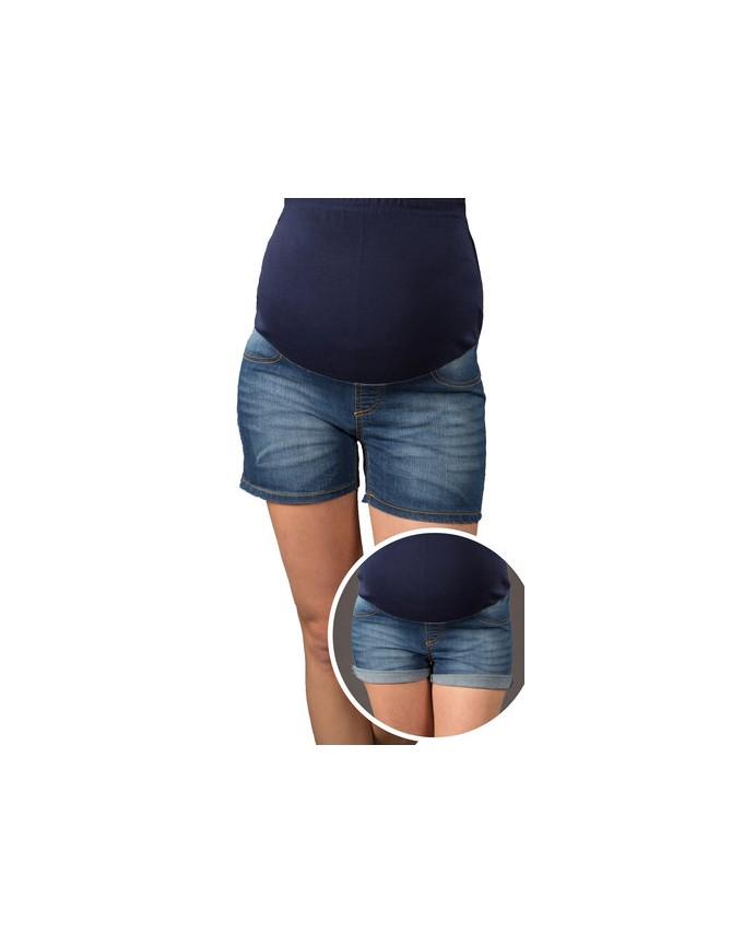 Jeans Shorts / Umstandshose mit Bauchband für Sommer