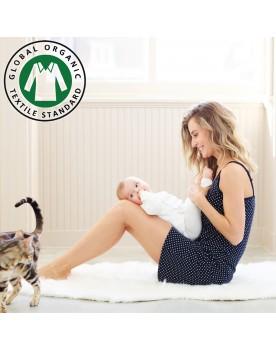 Umstandsmode Noppies NEU Bio Baumwolle GOTS Damen Nachthemd Still-Nachtkleid Hannah 90N4414