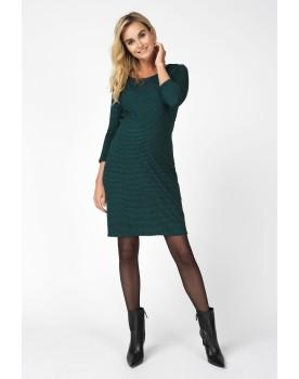 Damen Umstandskleid Dress Zinnia Rippstrickkleid Dreiviertelärmel 90524