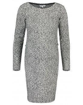 Noppies Umstands-Kleid Shirley in grau und Leoparden-Muster aus Baumwoll-Stretch-Material 90624