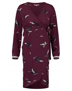 Noppies Still-Kleid Sera mit Wickel-Ausschnitt und Blumen-Print langarm rot 90628