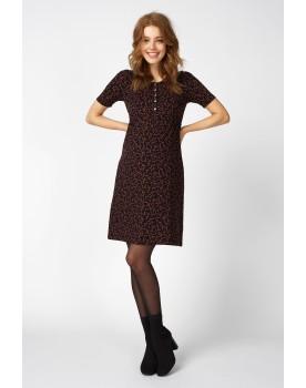 Queen Mum Still-Kleid GOTS-Zertifikat Bio-Baumwolle mit Print Still-Oberteil 91542