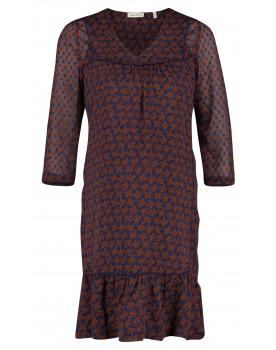 Queen Mum Kleid Umstandsmode Blätterprint transparent mit Unterkleid Umstands-Kleid 91548