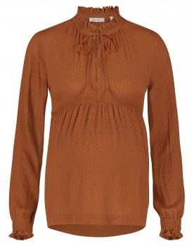 Queen Mum Still-Shirt mit Spitze am Ausschnitt und Schnürung Umstandsshirt 91566