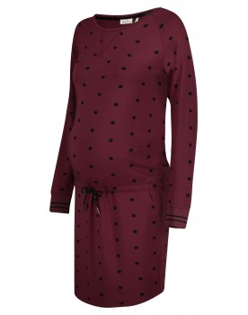 Queen Mum Umstands-Kleid langarm Punkte sportlich 91640