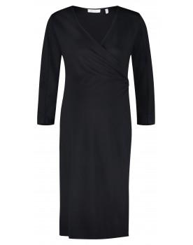 Queen Mum Umstands-Kleid schwarz black Still-Kleid Jerseystoff 91642