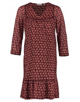 Queen Mum Kleid Dresses Paspell Blumenmuster Umstands-Kleid 3/4-Arm 91643