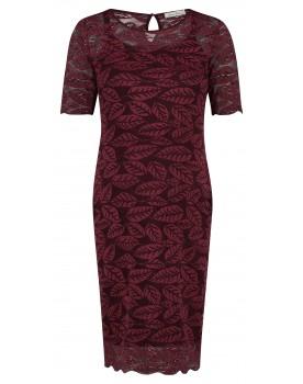 Queen Mum Kleid Hochzeits-Kleid 3/4-Ärmel Rüschen Umstands-Kleid bordeaux 91645