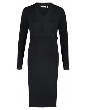 Queen Mum Kleid Dresses schwarz langarm Klassiker klassisch Umstands-Kleid 91649