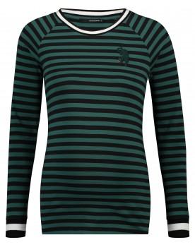 Supermom Umstandsshirt Langarmshirt Green Stripe S1027