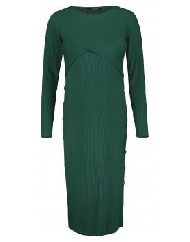 Supermom Still-Kleid Buttons S1037 Bodycon Umstands-Kleid grün Wickel-Ausschnitt
