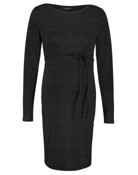 Supermom Kleid black schwarz Print Schlangen-Print basic Umstandskleid S1040