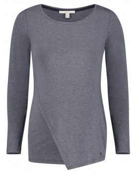 Esprit Umstands-Stillshirt Langarmshirt aus weichem Materialmix U1984702